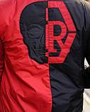 Мужская дизайнерская куртка бомбер M725 черно-красная, фото 8