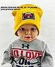 Оптом шапки 48 50 52 и 54 трикотажная с хомутом двойная детская шапка головные уборы детские опт