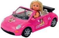 Оригинал. Кукла Evi Minniе Mouse в кабриолете с багажом Simba 5747742