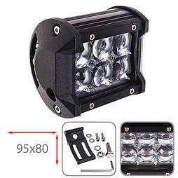 Светодиодная фара дальнего света 95х80мм Vitol LML-C2018 F-5D SPOT  (6 LED*3w)
