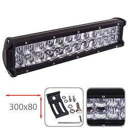 Светодиодная фара 300х80мм Vitol LML-C2072 F-5D COMBO  (24 LED*3w)