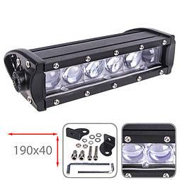 Светодиодная фара дальнего света 190х40мм Vitol LML-G2030-4D SPOT  (6 LED*5w)