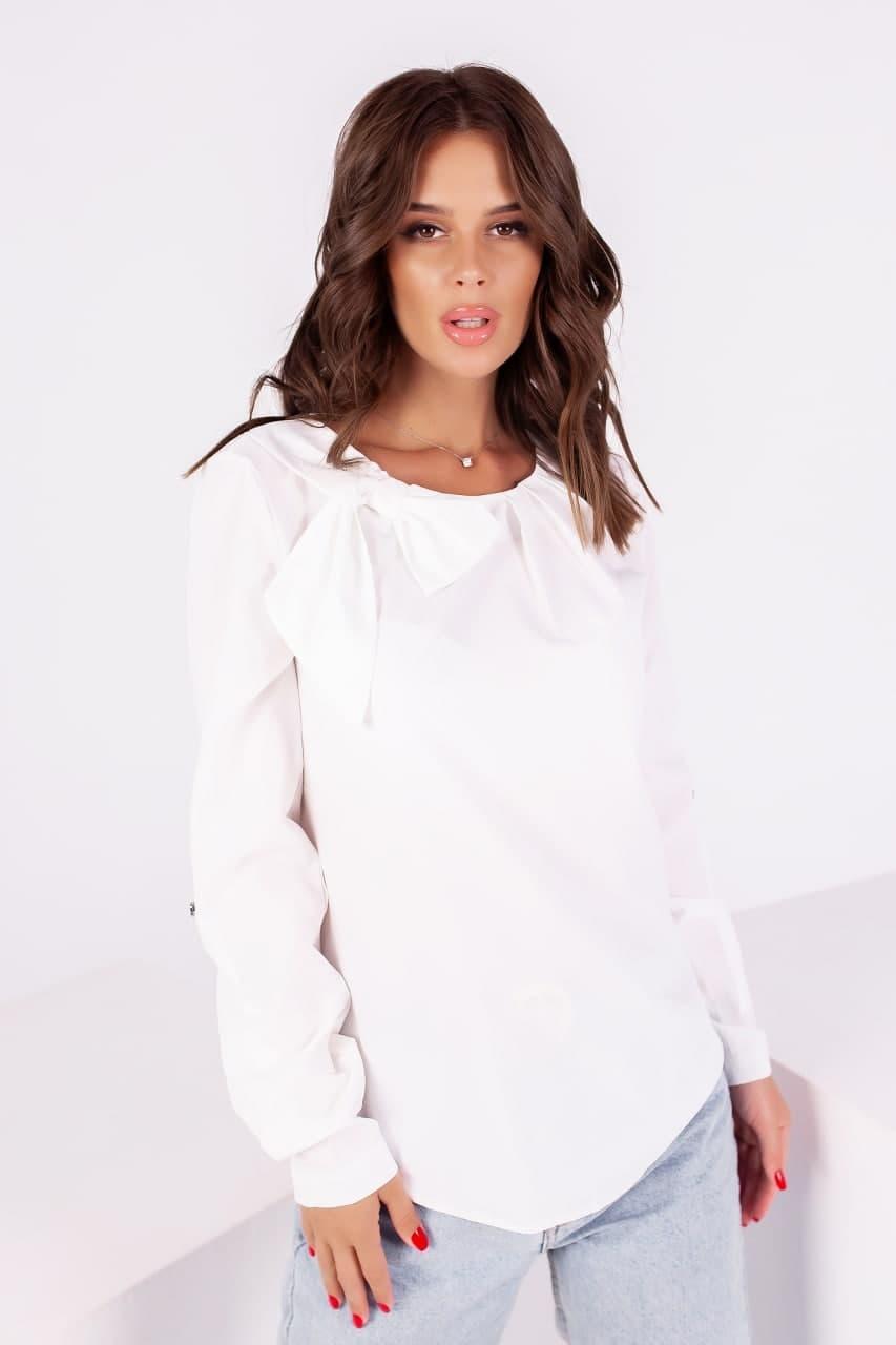 Модна жіноча блуза з бантом (42-48)