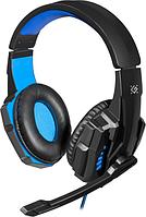 Гарнитура Defender Warhead G-390 LED Black+Blue (64039)