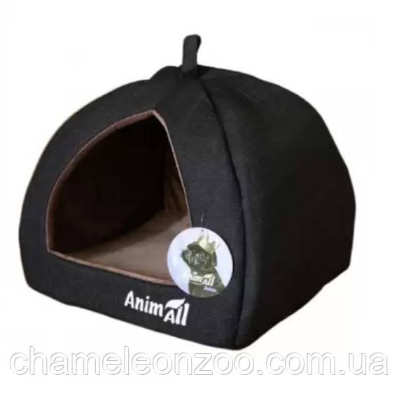 Будиночок для собак і кішок сірий AnimAll Piter S 38 x 38x 29 см