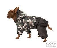 Комбинезон Дождевик Камуфляжный для собак мелких, средних и крупных парод. Одежда для собак Люкс качаство