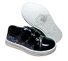 Дитячі туфли-кроссівки на липучках «Париж», 29 розмір устілка 18 см, фото 2
