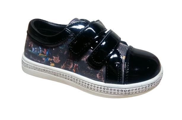 Дитячі туфли-кроссівки на липучках «Париж», 29 розмір устілка 18 см