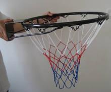 Кольцо баскетбольное усиленное с сеткой в комплекте для дома, баскетбольное кольцо для улицы