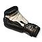 Боксерские перчатки 10 oz кожа, черные BOXER, фото 2