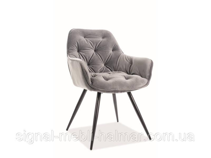 Кресло CHERRY VELVET серый (Signal)