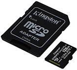 Карта памяти Kingston microSDHC 128GB Canvas Select+ A1 (W100/W85) + SD адаптер, фото 3