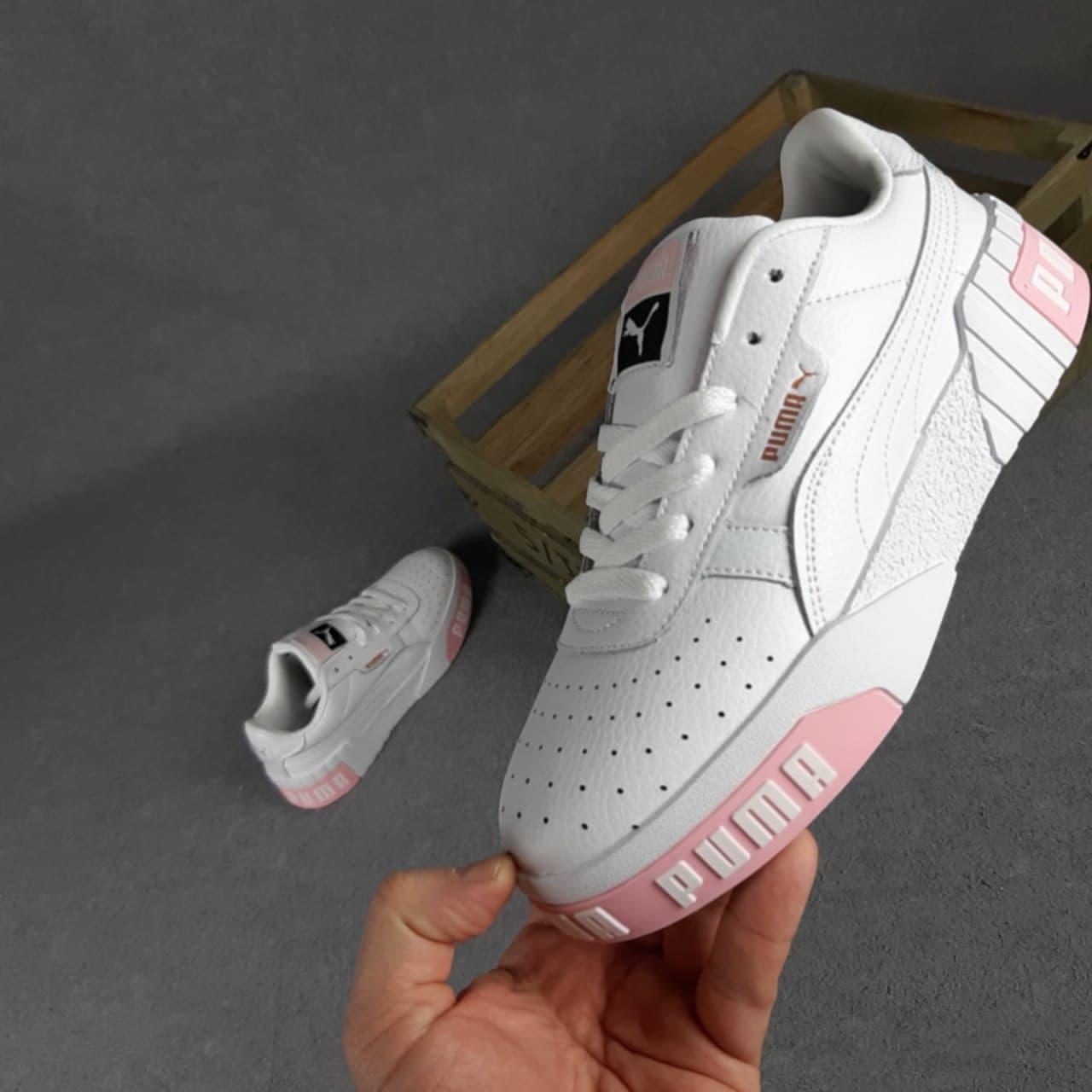 Кросівки жіночі Руму Cali Білі з рожевим