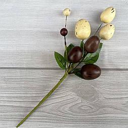 Пасхальная композиция бутоньерка светло коричневые яйца  22см