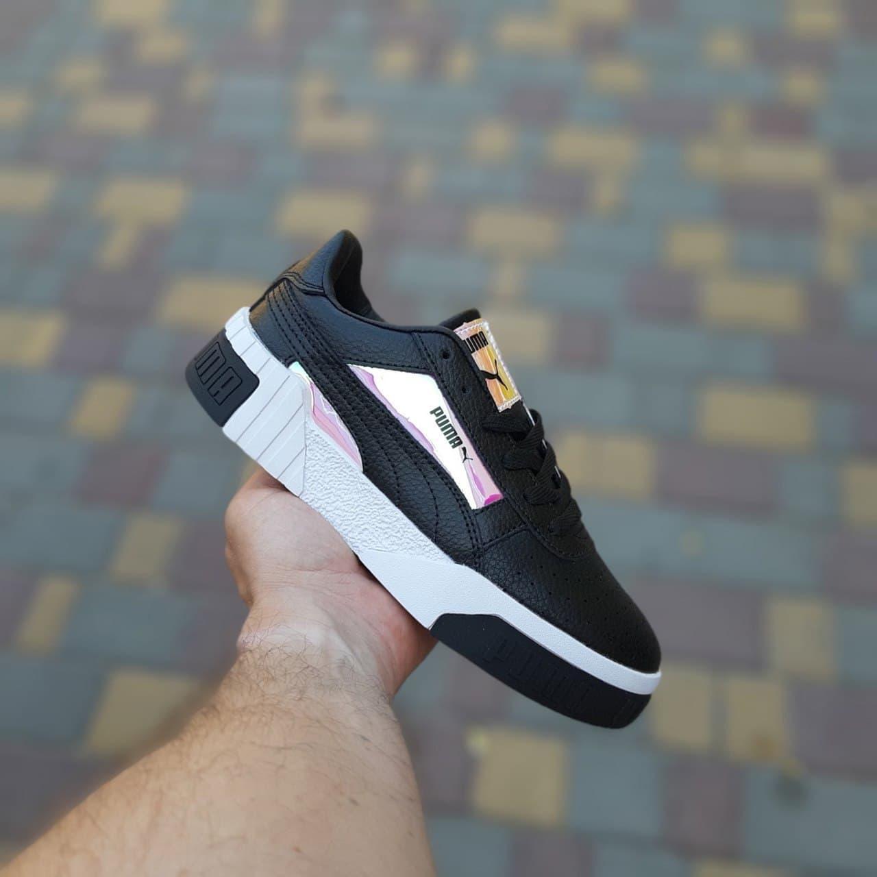 Кросівки жіночі Руму Cali Чорні з перламутром