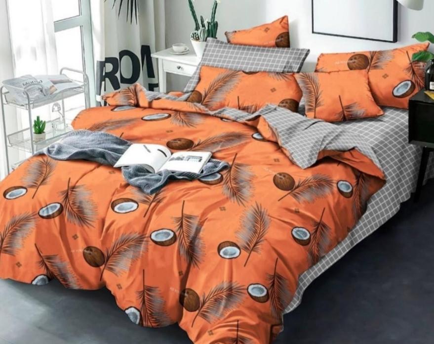 Постельное белье с кокосами 150х210/Постельное белье/комплект постельного белья