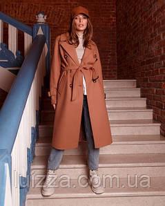Жіноче пальто-тренч 42 - 48 р, кемел