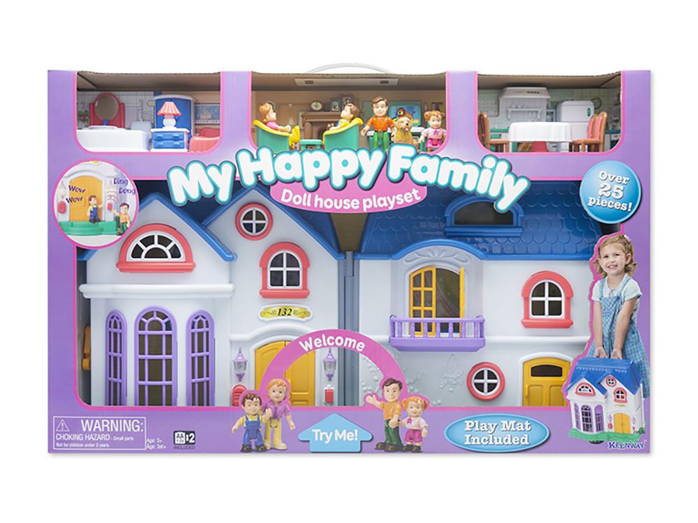 Ігровий набір Будиночок для ляльок Keenway Моя щаслива сім'я, з меблями і фігурками (звук, світло)