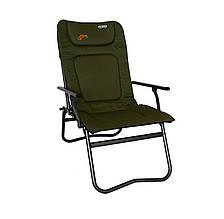 Мягкое рыболовное кресло складное карповое с подлокотниками Novator SF-4