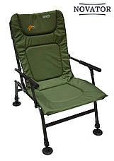 М'яке коропове крісло для риболовлі з регульованими ніжками SF-1, фото 2