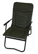 Кресло складное с подлокотниками и спинкой рыболовное Basic