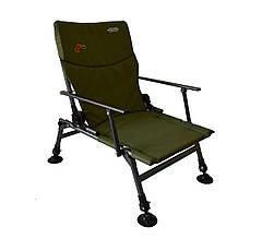 Кресло раскладное рыболовное с спинкой до 120 кг мягкое SR-11