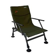 Крісло риболовне з регульованими ніжками і спинкою з підлокітниками до 120кг SF-9, фото 2