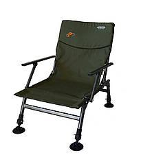 Крісло риболовне з регульованими ніжками і спинкою з підлокітниками до 120кг SF-9, фото 3