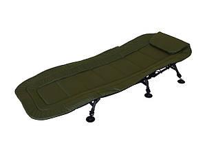 Раскладушка кровать карповая для рыбалки либо кемпинга с регулируемыми ножками Bad-1