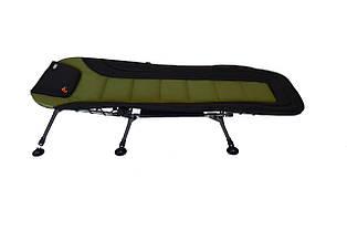 Мягкая регулируемая раскладушка карповая для кемпинга или рыбалки до 150 кг Novator R-1 Comfort