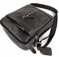 Мужская кожаная сумка через плече Tiding Bag SK N7689 черная