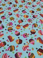Кухонне вафельний рушник, Тістечко, 35х70, бавовна