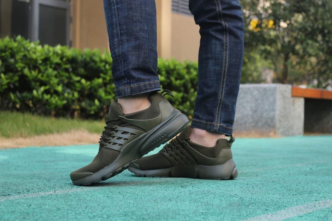 Мужские кроссовки в стиле Presto  Nk 10247 темно зеленые