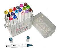 """Набор скетч маркеров 18 цветов PM508-18 """"Aihao Sketch Marker"""" двухсторонних толстых 15,5см d15мм"""