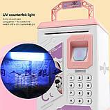 Електронна скарбничка з кодовим замком і купюропріємником для дітей. Скарбничка робот, фото 3