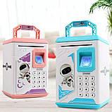 Електронна скарбничка з кодовим замком і купюропріємником для дітей. Скарбничка робот, фото 4