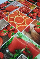 Кухонне вафельний рушник, Червоне, 35х70, бавовна