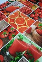 Кухонное вафельное полотенце, Красное, 35х70, хлопок
