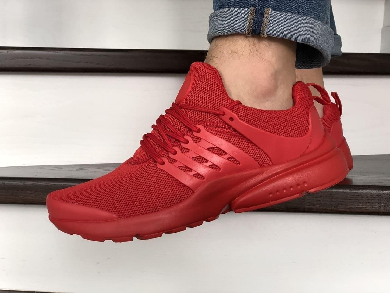 Мужские кроссовки в стиле Presto  Nk 10249 красные