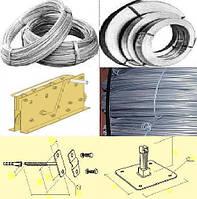 Проволока для молниезащиты  цинк 6,0-8,0-10,0мм, полоса 20х4, 40х4мм, крепеж - для громоотводов, сеток молниез