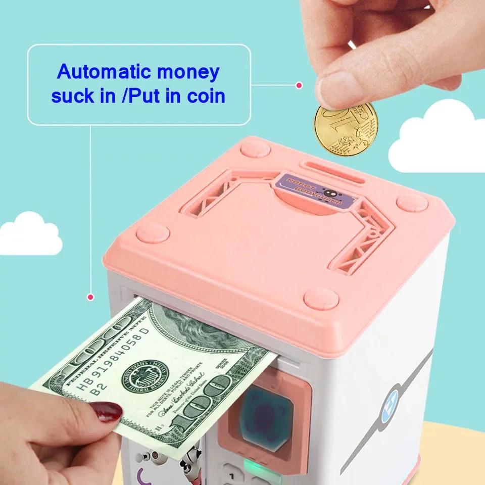 Електронна скарбничка з кодовим замком і купюропріємником для дітей. Скарбничка робот