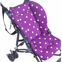Мягкий матрасик подкладка для детской коляски стульчика автокресла, цвет как на фото