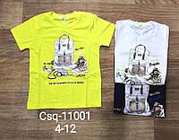 Футболки для мальчиков оптом, Seagull, 4-12 лет,  № CSQ-11001