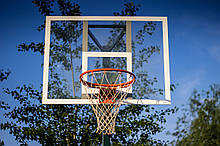 Щит баскетбольный металлический Jordan с кольцом и сеткой 1800х1050 мм