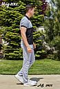 Мужской летний спортивный костюм с футболкой хаки, фото 5