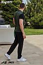 Мужской летний спортивный костюм с футболкой хаки, фото 2