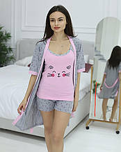 Комплект халат шорти и майка, Miss Victoria