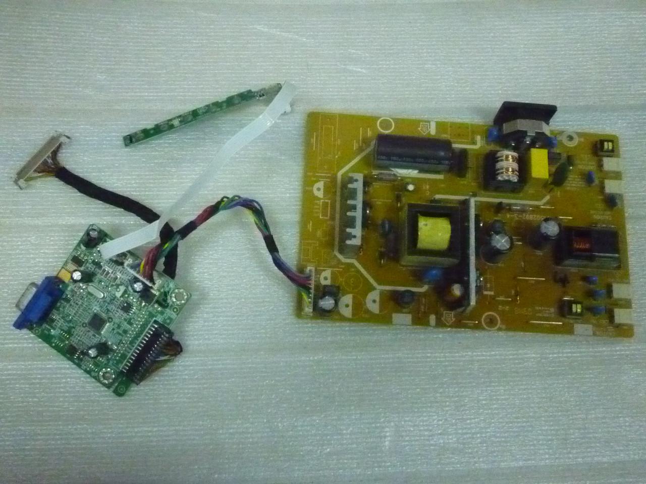 Плати від LCD монітора ViewSonic VA2213w-6 по блоках (розбитий екран).