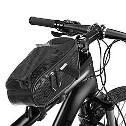 Сумка на раму велосипеда ROCK BARDS MS-1653 (PL, р-р 24х9х9см, чорний)
