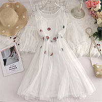 Женское лёгкое нарядное шифоновое платье